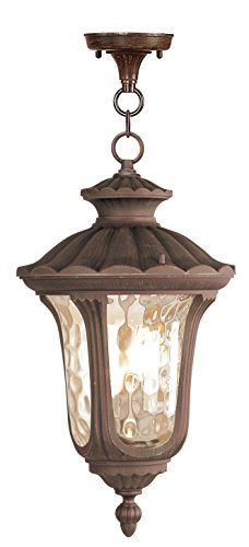 Livex Lighting 7658-58 Oxford 3 Light Outdoor Hanging Lantern, Imperial Bronze