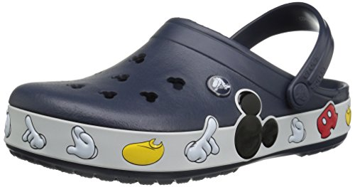 Crocs Unisex Crocband Mickey Clog Mule, Multi, 7 US Men's/9 US Women's