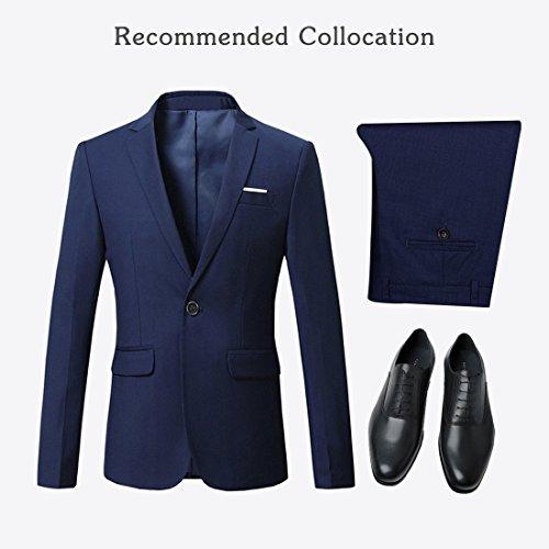 Jearey Mens Blazer Casual Slim Fit Lapel Suit Jacket One Button Daily Business Dress Coat (Navy, XX-Large) by Jearey (Image #5)
