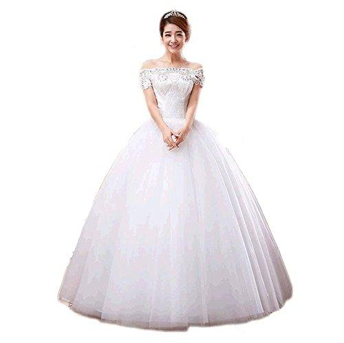 Nuevo vestido de novia tubo superior de las mujeres embarazadas un hombro vestidos de novia boda