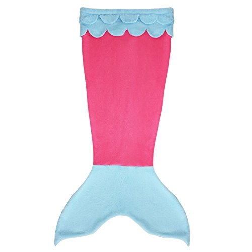YiZYiF Luxury Mermaid Tail Blanket Soft Cozy Fleece Cos Custom for Children Teen Hot Pink Blue -
