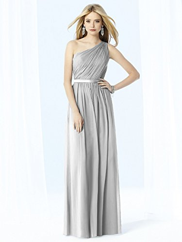 Long Women s Dobeloved Chiffon Grey One Shoulder Bridesmaid Prom Gown Dress qfSdFIdwn