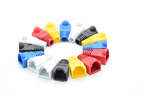 RJ-45 Color Coded Strain Relief Boots - 100pc