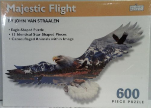 John Van Straalen's Majestic Flight Eagle Jigsaw Puzzle 600 pieces by SunsOut - Flight Eagle Majestic