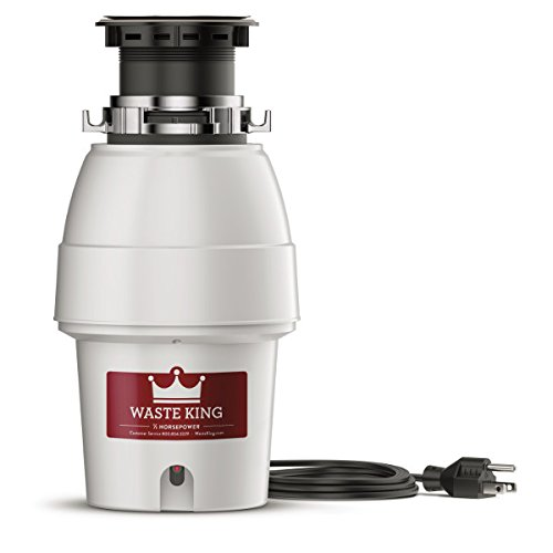 Waste King Legend Series 1/2 HP Garbage Disposal with Power Cord - (L-2600)