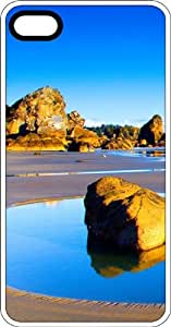 Blue Lagoon Beach Paradise White Plastic Case for Apple iPhone 4 or iPhone 4s