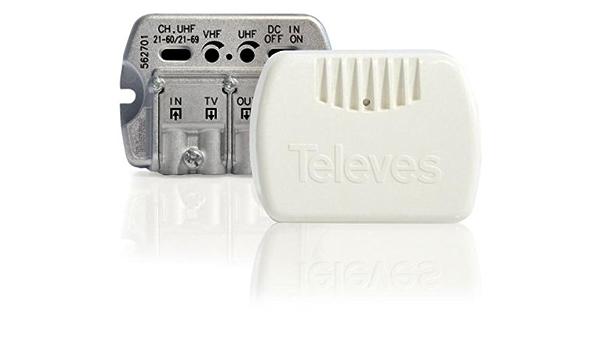 Televes 562713 - Amplificador interior serie nanokom 1e/2stv ...