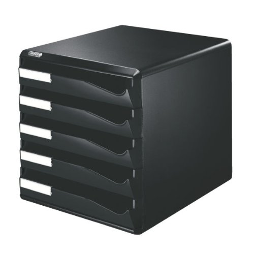 Leitz Post Set Filing Unit with 5 Drawers A4 W291xD352xH291mm Black Ref 52930095
