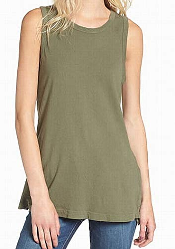 Current/ Elliot Women's Olive Sleeveless Tank Cami Top
