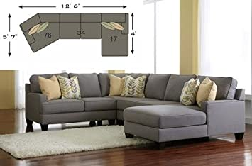 Ashley Chamberly 24302 17 34 76 3 Piece Sectional Sofa With Right