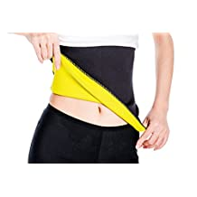 SAYFUT Hot Sweat Waist Cincher Belt Girdle for Weight Loss Tummy Fat Burner Slim