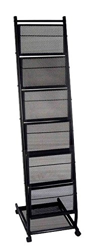 6 Pocket Mobile Literature Display Rack (Small)