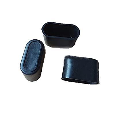 Flyshop 8Pcs Chair Leg Caps Feet Pads PVC Rubber Floor Protectors Oval Furniture Table Covers