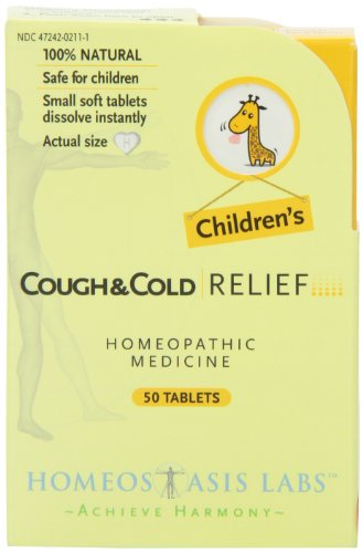 Homeostasis Labs Children's Cough and Cold Relief, 50-Count