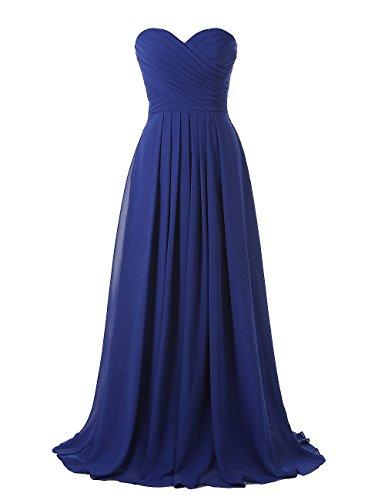 long strapless blue multi dress - 2
