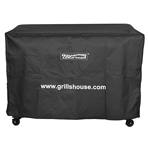 Royal Gourmet BBQ Grill Cover with Heavy Duty Waterproof Polyester Oxford, Flat 60-Inch for Weber, Char Broil, Brinkmann