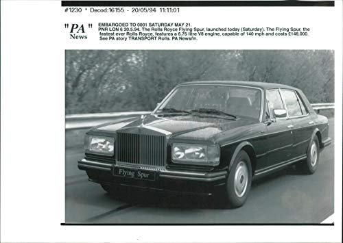 Vintage photo of The Rolls Royce Flying Spur