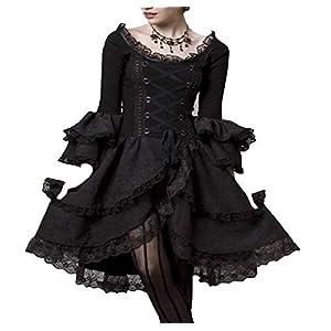 Nite closet Gothic Dresses for Women Plus Size Lolita Steampunk Clothing Victorian Vintage