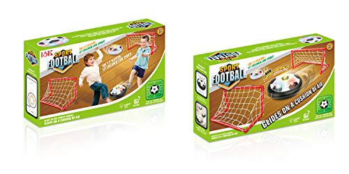 CoCuKi Kids Toys - Hover Soccer Ball Set with 2 Portable Goals, Perfect for Kids & Children - Flashing Colorful LED Lights   for Smooth Surfaces   Indoor Air Football Games for Boys/Girls, Gift Idea ()