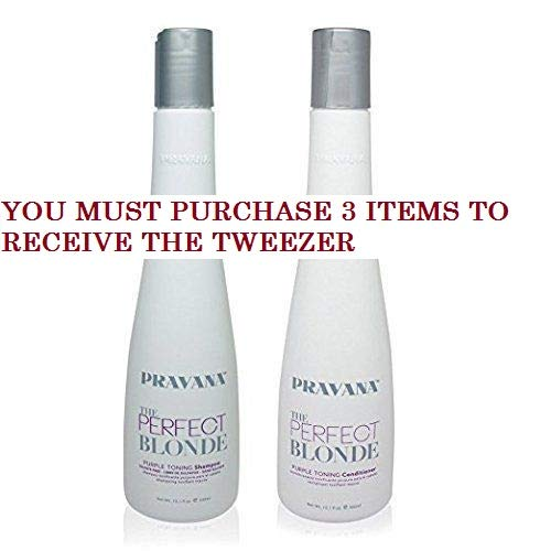 Blonde Purple Toning Shampoo and Conditioner DUO 10.1 Oz + FREE PROFESSIONAL TWEEZER