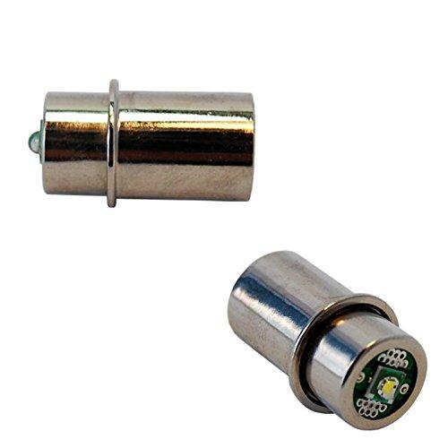 HQRP High Power Bulb 2-Pack for Mag-Lite 3-4-5-6 D/C Cell Torch Flashlights, Maglite 3D 4D 5D 6D / 3C 4C 5C 6CCell MagLight Halogen / D30113730000 + HQRP Coaster (4d Cell Flashlight)