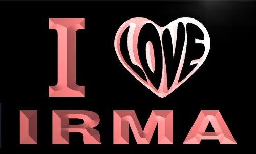 vg0254-r I LOVE YOU IRMA Wedding Gift Night Light Room Decor Neon Sign Barlicht Neonlicht Lichtwerbung