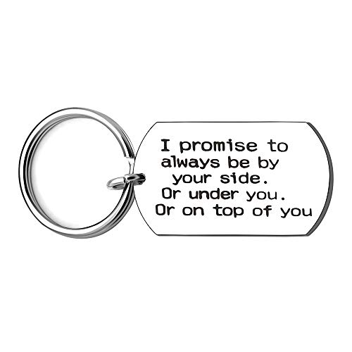 KENYG Lover Couple Key Ring Chain Key Fob Stainless Steel Dog Tag Car Key Accessories