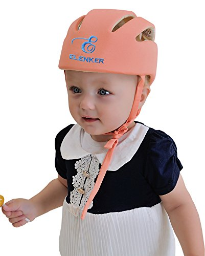 ELENKER para bebé Niños Infantil Ajustable Casco de seguridad casco protector tapa protectora arneses