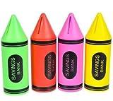 Crayon Piggy Banks (4 Pack)
