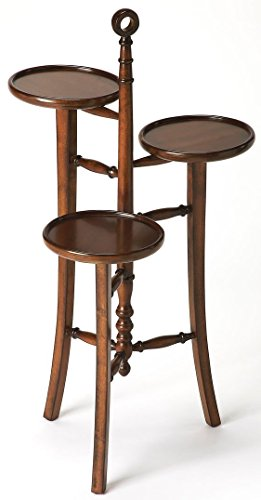 (Butler Plant Stand in Distressed Dark Brown Finish)