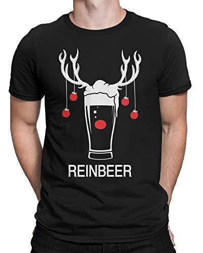 Reinbeer Christmas Beer Men's T-Shirt Large Black