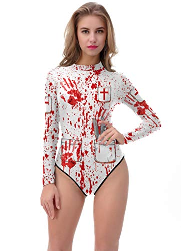 Thenice Women's Halloween Long Sleeve One-Piece Sunscreen Diving