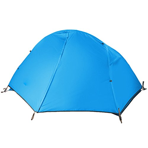 1-2 Personne Double Couche Camping étanche Backpacking Tent,Blue-S
