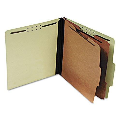 Pendaflex 1257G Pressboard Classification Folders, Letter, Six-Section, Light Green, 10/Box
