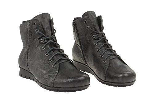 Boots Menscha Donne Grigio Stivali Delle Menscha grau Pensare Red Think Rosso Caviglia Women's Ankle Scuro Dunkel AInES