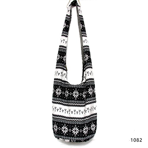 Sling Fashion Cotton Thai Women's Print Hobo Girls Hippie Crossbody Paisley Story Bag Purse Messenger 1082 4x4Bq1R