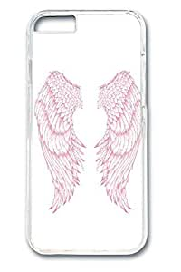 6 plus Case, iPhone 6 plus Case - Slim Fit Cover with Fashion Designs for iPhone 6 Plus Pink Wings Protective Clear Hard Case Bumper for iPhone 6 Plus 5.5 inches