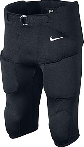 Youth Football Pants Pads - Nike Youth Recruit Integrated 2.0 Football Pants, 3XL, Black/White