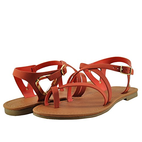 City Class Valines S Mujeres Strappy Sandal Orange