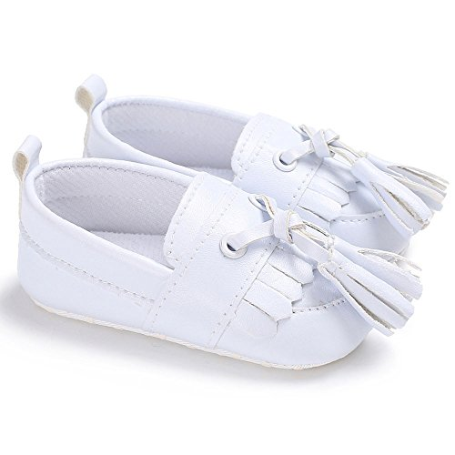 Lanhui Newborn Leather Crib Soft Sole Shoe Sneakers Baby Shoes Boy Girl Shoes White by Lanhui (Image #2)