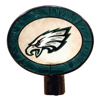 Philadelphia Eagles Art Glass Nightlight NFL Memory Company