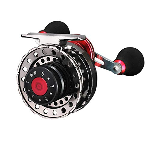 Saying Fishing Reel,Magnetic Metal Reel Left/Right Hand Water Drop Wheel, Light Smooth Bass Gear Spinning for Freshwater Fishing Reels (B - Right Hand)