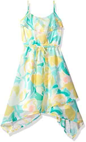 The Children's Place Girls' Floral Flounce Maxi Dress