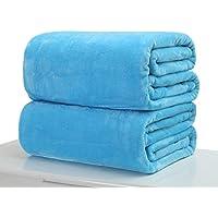 FidgetKute 50x70cm Super Soft Warm Solid Warm Micro Plush Fleece Blanket Throw Rug Sofa Bed