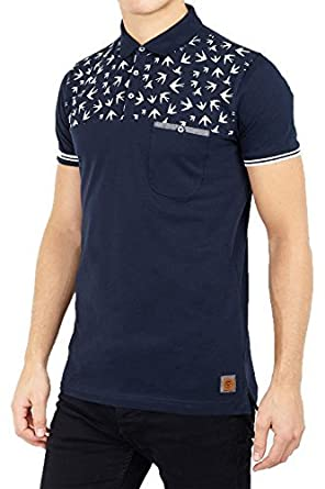Brave Soul Mens T Shirts -Aspect - Navy/White - Small