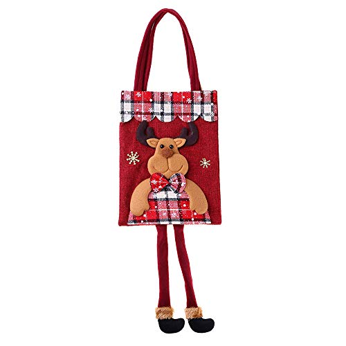 Rumas Gift Idea Christmas Cartoon Adorable Candy Bags Santa Claus Elk Snowman Bear - Most Wished Gift Sweet Bag Pouch for Toddlers Baby Boys Girls -