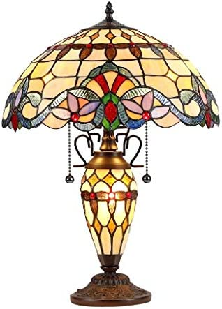 Chloe Tiffany Style Victorian Design 2 1-light Dark Bronze Table Lamp Brown