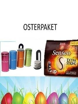 Senseo Extra Strong 16 almohadillas para Senseo y otros cafeteras Oster acción + metálico 4 latas con Pad Padheber: Amazon.es: Juguetes y juegos