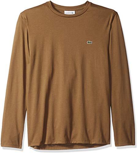 - Lacoste Men's Long Sleeve Jersey Pima Regular Fit Crewneck T-Shirt, TH6712-51, Soldier, Medium