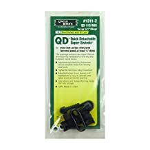 Uncle Mike's QD 115 RGS Bolt Action Wood Screw Type Sling Swivels (Blued, 1-Inch Loop)